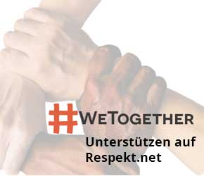 Support #WeTogether auf Respekt-net-